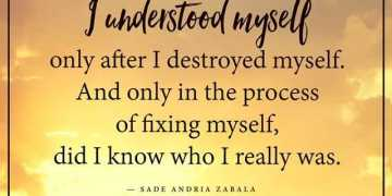 Best Life Quotes I Understand Myself Who I Really Was