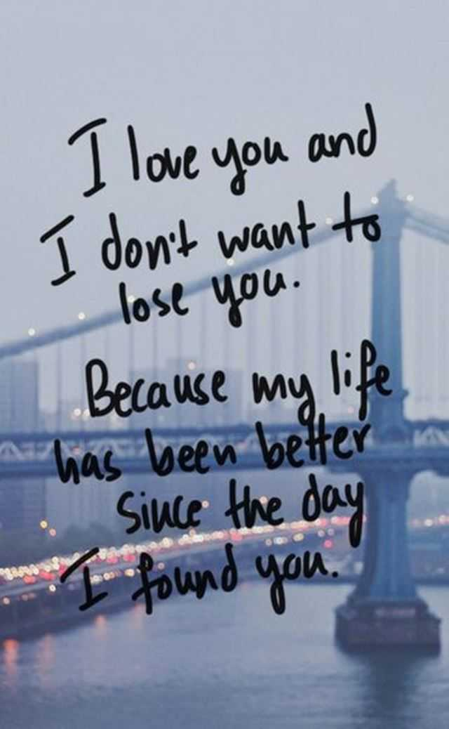 Best Love Quotes I Love You And I Dont Want To Lose You Boomsumo