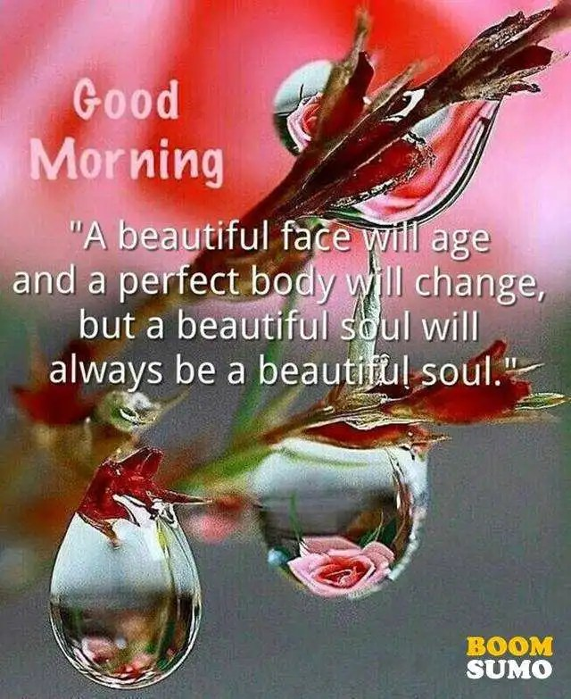 Good morning quotes beauty Perfect body changed But beautiful Soul