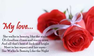 Love Quotes For Him She Walks In Beauty Like The Night