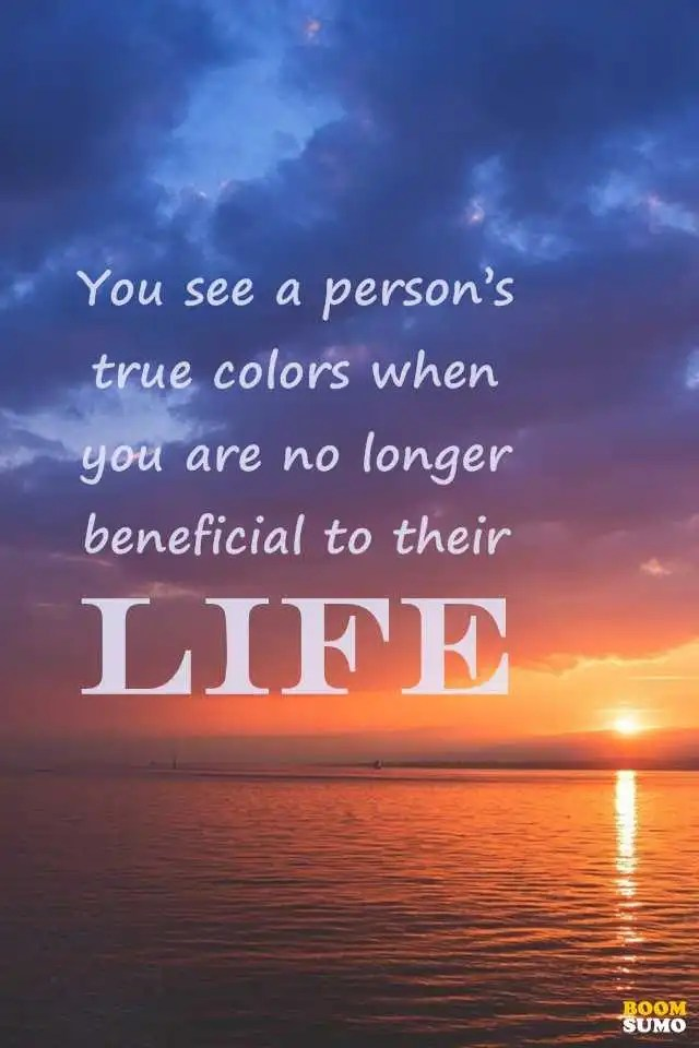 "Sad Life Quotes Magnificent Sad Life Quotes About Life Lessons You See A Person's ""true Colors"