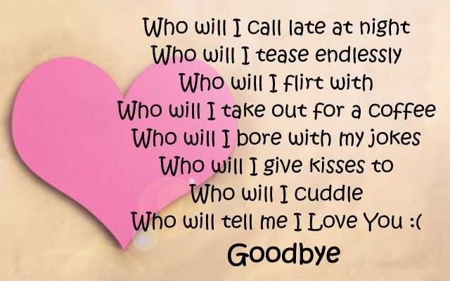 Sad Love Poems: When Love Turns To Sadness, Goodbye - BoomSumo Quotes