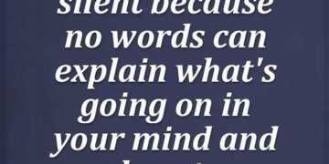 good quotes about life messages Sometimes stay silent