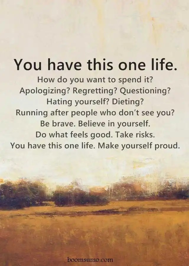 Inspirational Life Quotes You Have This One Life How Do You Want To
