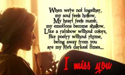 Sad Love Quotes When Were Not Together My Heart Feels