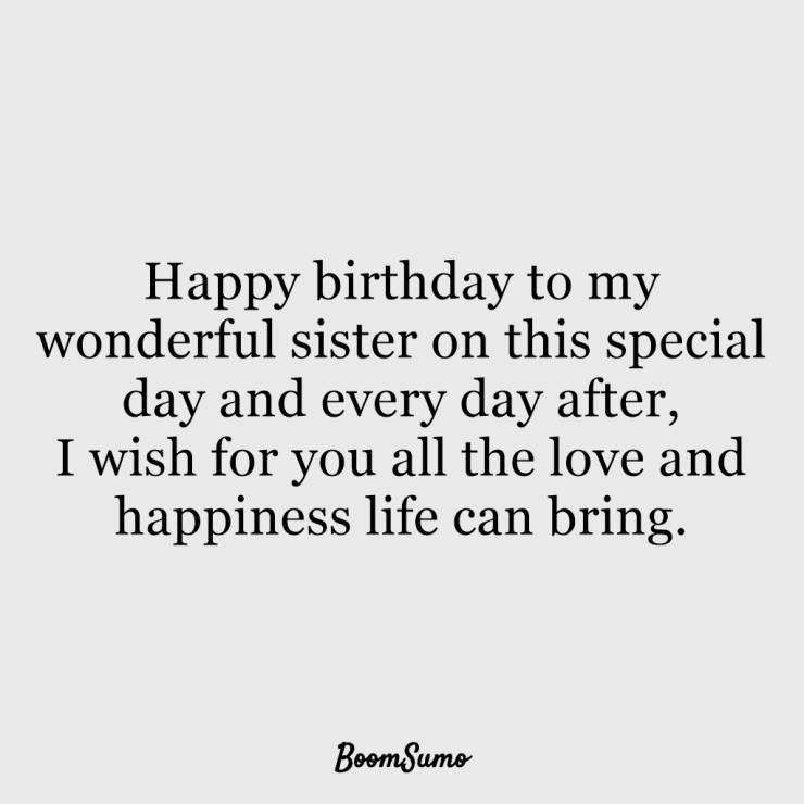 110 Best Happy Birthday Sister Quotes Wishes 51