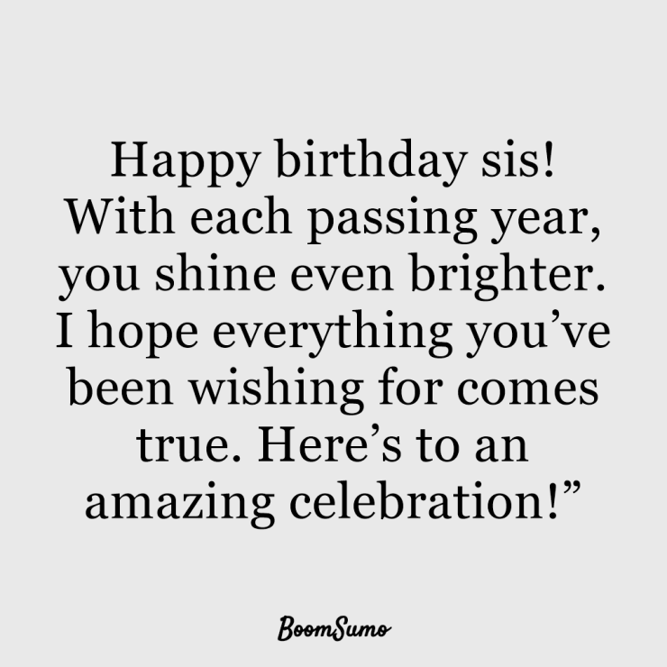 110 Best Happy Birthday Sister Quotes Wishes 84