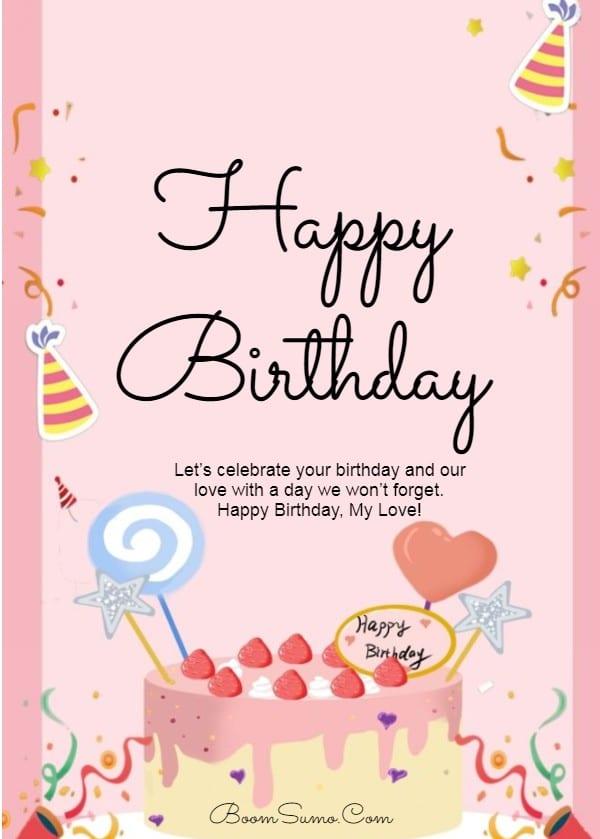 145 Best Happy Birthday Love Cute Romantic Birthday Wishes for Lovers   happy birthday to my love, happy birthday love quotes for him, happy birthday my love short quotes