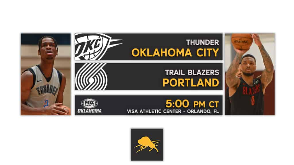 Scrimmage #3: Thunder vs Trail Blazers Preview & TV Guide