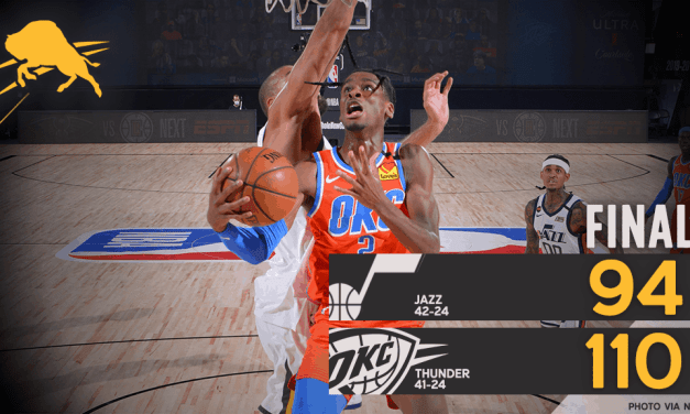 Thunder Drown Out The Jazz, Win 110-94 In First Game Of Regular Season Re-Start