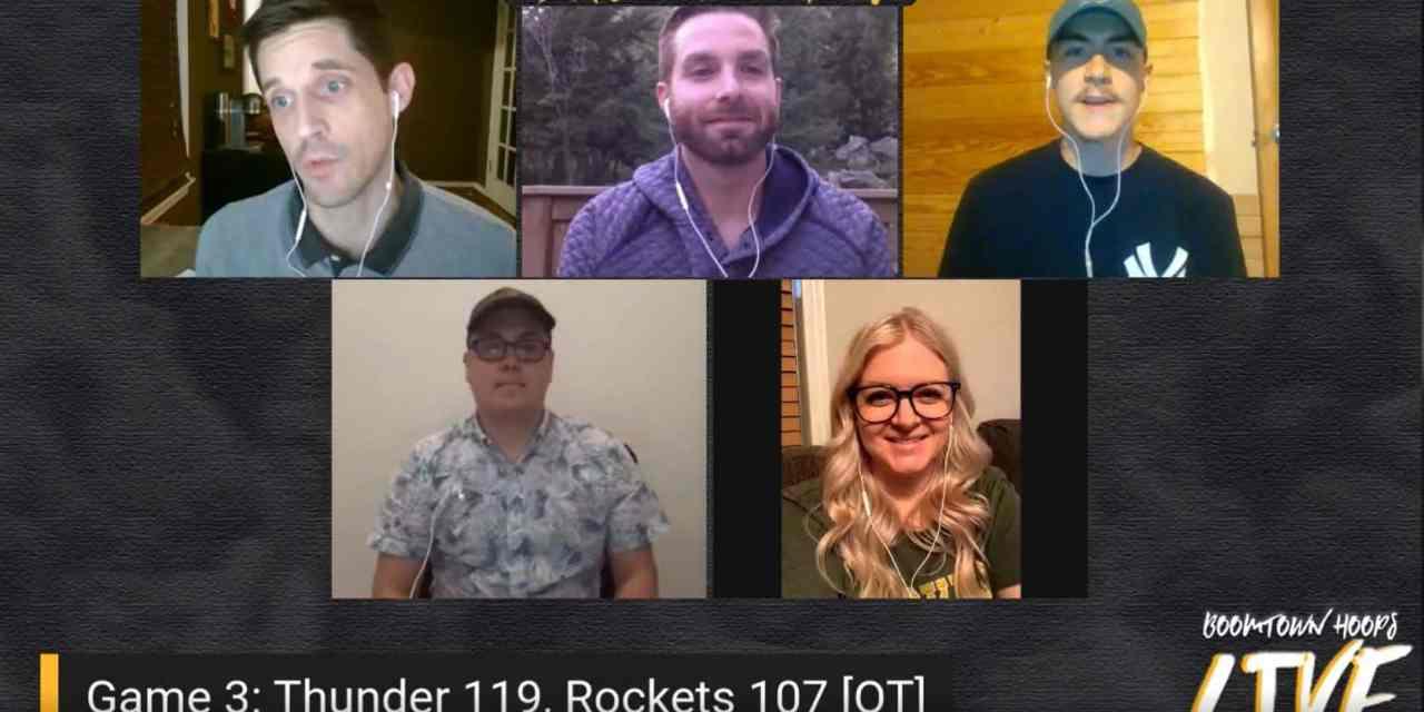 Game 3 Live Recap: Thunder 119, Rockets 107