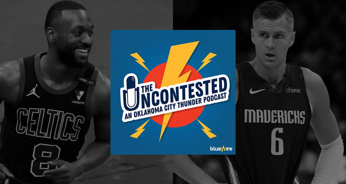 Porzingis & Kemba Rumors, What Does OKC do with their cap space?, Draft Lottery Game, + NBA Playoffs