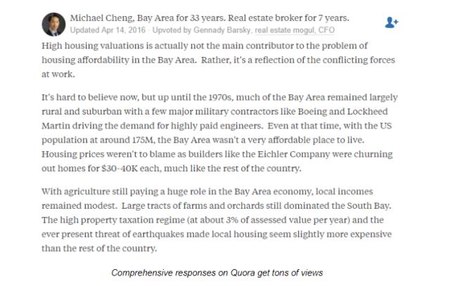 Quora Real Estate BoomTown