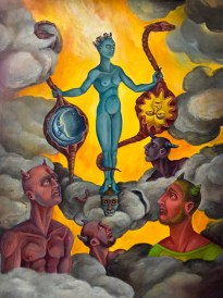 The Apotheosis of Sophia,2014, oil on Masonite, 18 by 24""