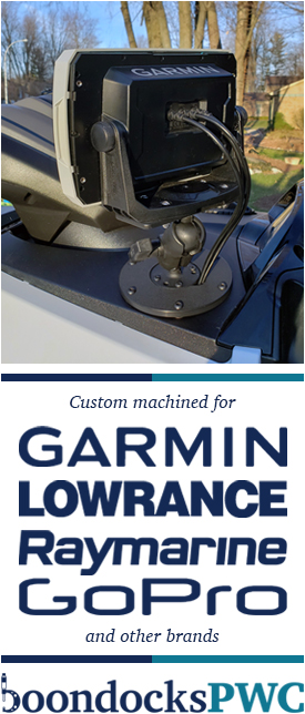 We custom machine for Garmin, Lowrance, Raymarine, GoPro, and other brands.