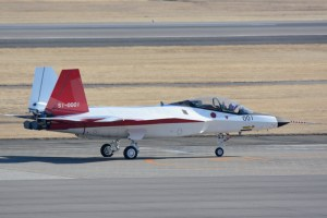地上滑走するX-2