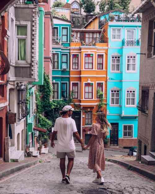 @haylsa and @kyle_hunter in Balat, Turkey