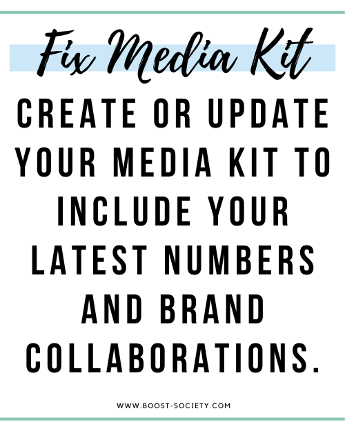 Create or update your media kit
