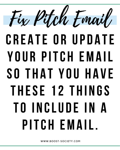 Create or update your pitch email