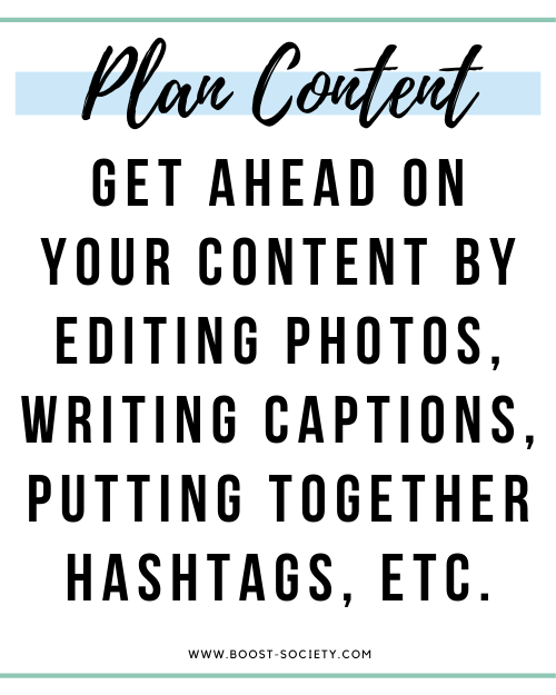Plan out your upcoming content