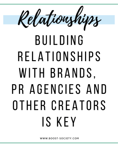 Build relationships with PR agencies, brands, and other influencers to grow on Instagram in 2020