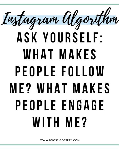 Ask yourself about what makes people follow you and engage with you to grow on Instagram in 2020