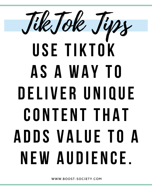 Tiktok for influencers is a way to deliver unique content that adds value to a new audience