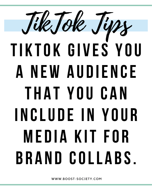 Tiktok for influencers is a new audience to include in your media kit for brand collaborations