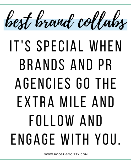 It's special when brands and PR agencies go the extra mile and follow and engage with you.