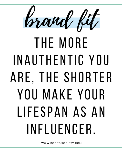 The more inauthentic you are, the shorter you make your lifespan as an influencer