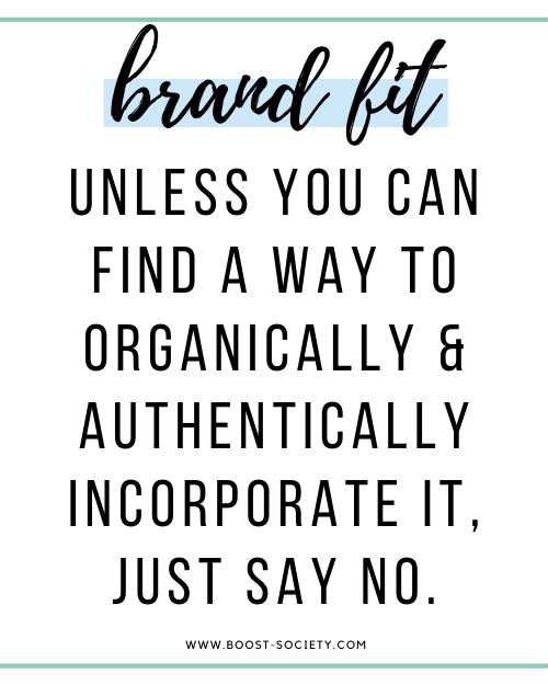 Unless you can find a way to organically and authentically incorporate it, just say no