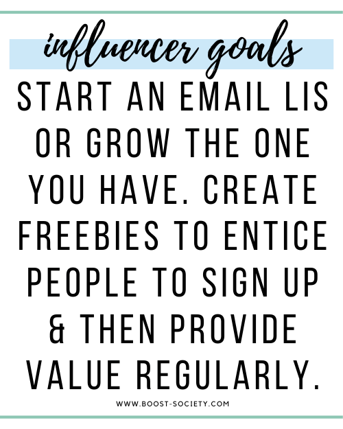 Start an email list or grow the one you have. Create freebies to entice people to sign up and then provide value regularly.