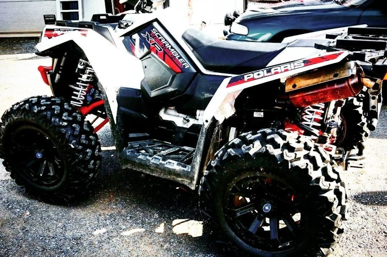 glowing red hot atv exhaust