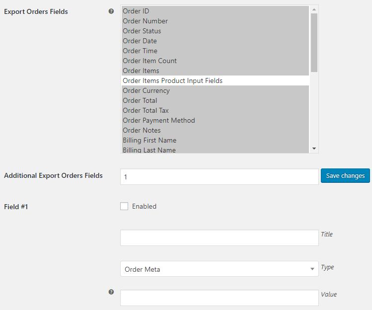 WooCommerce Export Tools - Export Orders Options