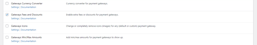 Payment Gateways Fees and Discounts module