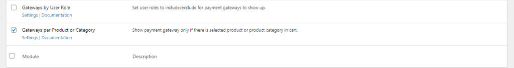 Payment Gateways per Product or Category module