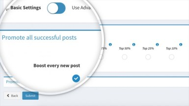 Boosterberg Automated Facebook Post Boosting - Basic Settings - Promote the most successful FB posts automatically