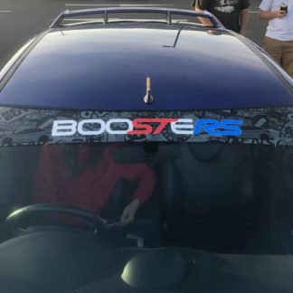 Boosters JDM Windscreen Banner