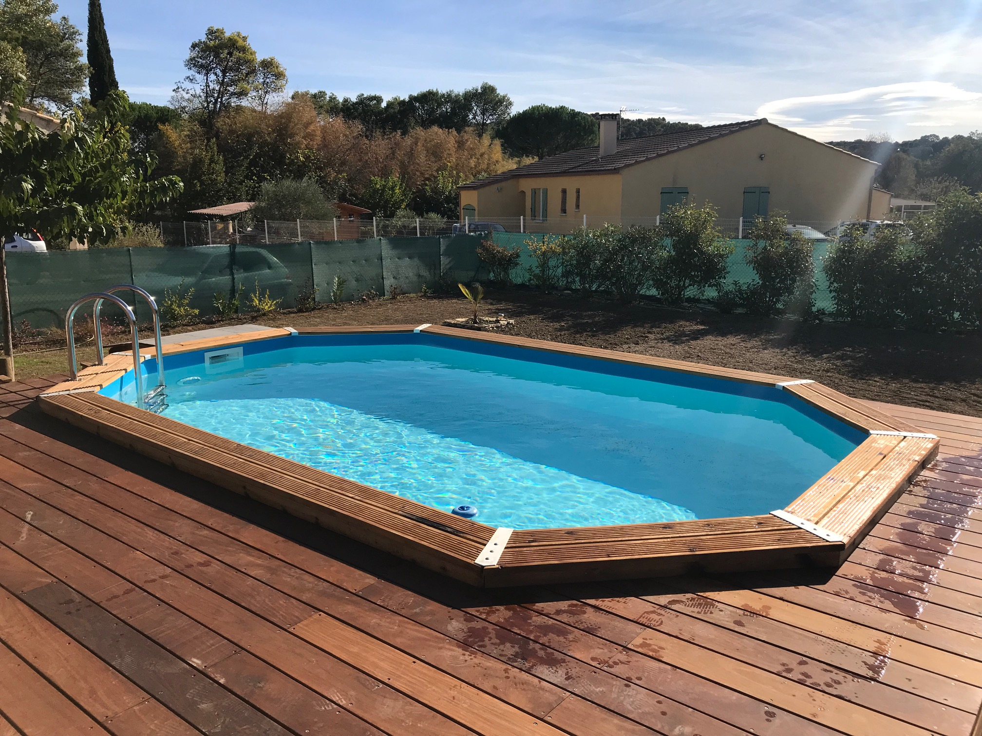 ubbink piscine en bois 490x300x120 hors