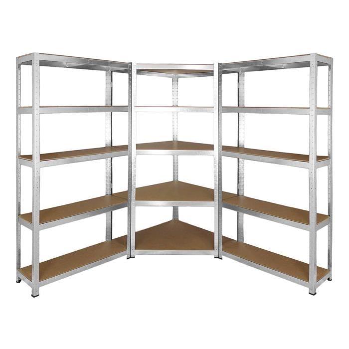 manupro etabli d atelier pack 3 etageres de rangement charge lourde 3900 kg 5 plateaux