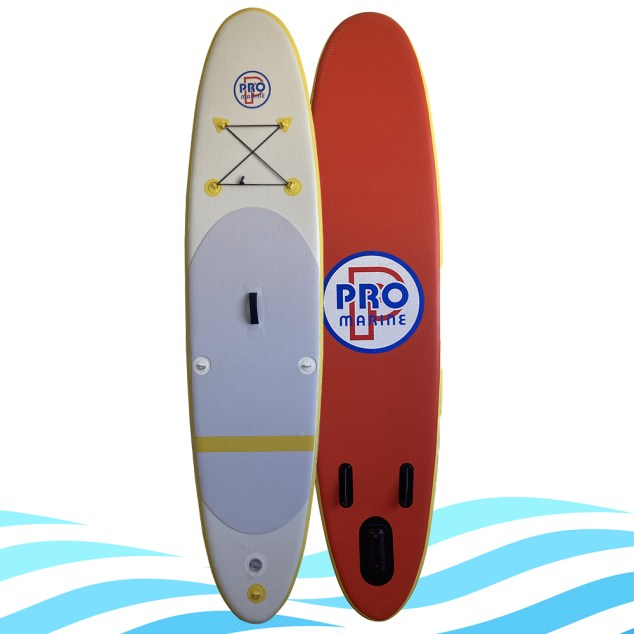 PRO MARINE Stand up Paddle gonflable 305x76x12cm Blanc