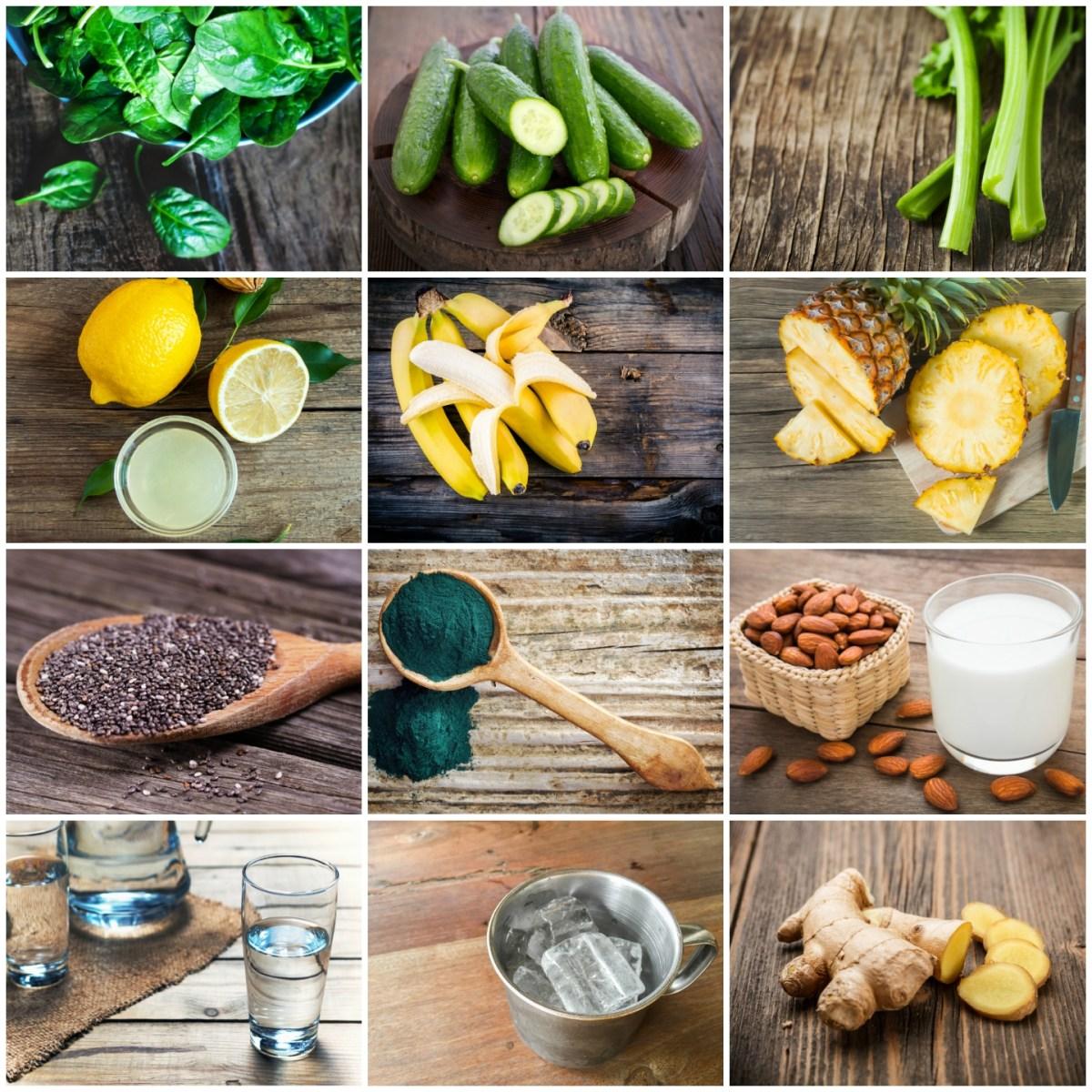 Frullati detox con frutta e verdura
