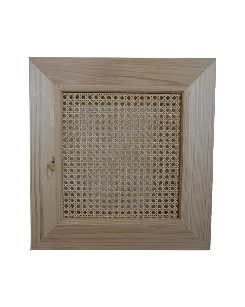 porte en pin et cannage compatible meuble ivar ikea