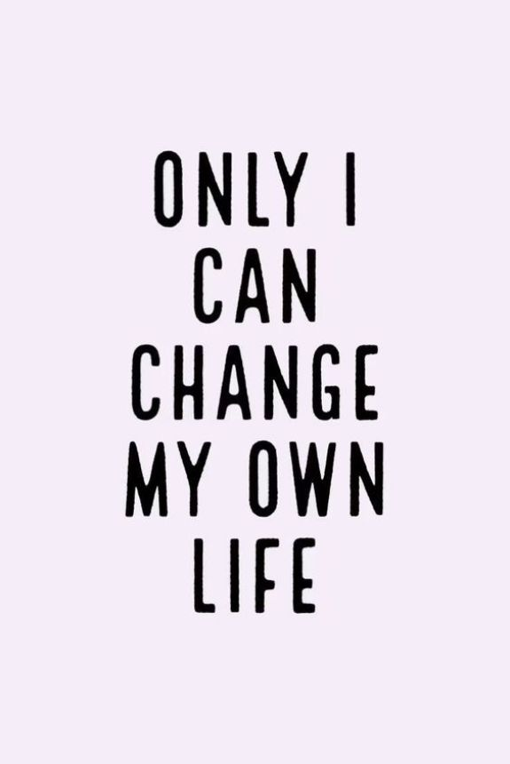 Only I can change my own life. - Short Motivational Quotes