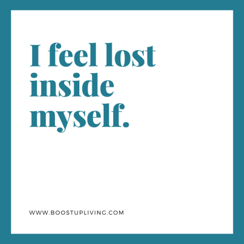 I feel lost inside myself. - Depression Quotes