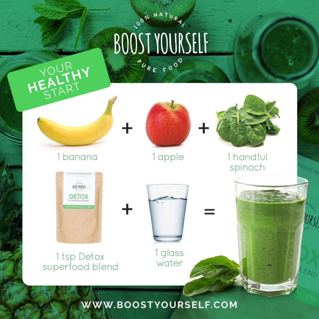 Green superfood blend for smoothies