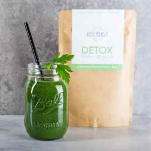 Green detox smoothies superfood powder