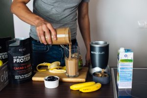 Cacao peanut butter protein smoothie