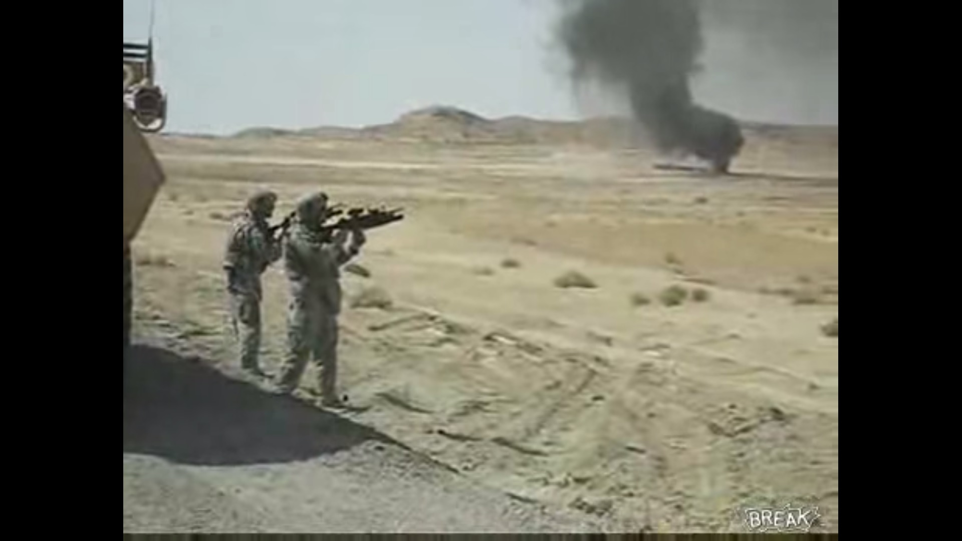 Soldiers Blow Up A Gas Tanker With Grenades In Iraq