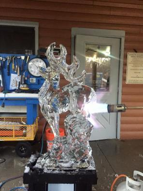Stag Ice Sculpture